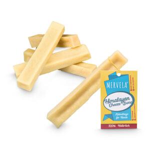 Premium Käseknochen M Paket mit Etikett für mittlere Hunde   5x61g